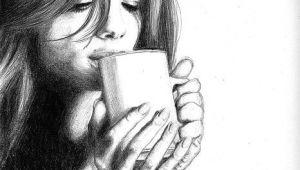 Girl Drinking Coffee Drawing Drinking Coffee Coffee Art Coffee Infographic Coffee Drawing