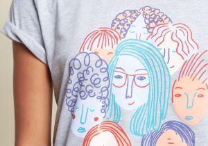 Girl In Shirt Drawing Celebrate Women Graphic Tee Inkspiration Pinterest Woman