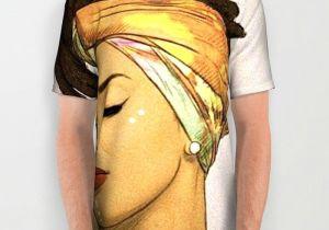 Girl In Shirt Drawing Women Hair All Over Print Shirt Drawing Girl Afro Black Ethnic
