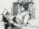 Girl Reading A Book Drawing Drawing by James Gurney James Gurney Reading Art Book