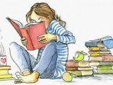 Girl Reading A Book Drawing Pin Von Maria Taback Auf Bibliotek Cartoon Zeichnungen