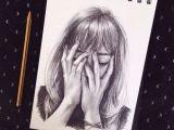 Girl Sad Drawing Pin On Art and Canvas