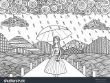 Girl Walking Drawing Beautiful Girl Walking On the Bridge while It S Raining