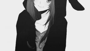 Girl Wearing Hoodie Drawing Girl In Bunny Hoodie Anime Kawaii Anime Manga Anime