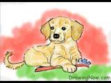 Golden Retriever Drawing Easy How to Draw A Golden Retriever Puppy