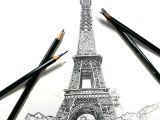 Graphite Pencil Drawing Ideas 40 Easy Eiffel tower Drawing Ideas to Try Eiffel tower
