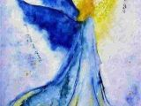 Guardian Angel Drawing Easy Blue Watercolor Angel In 2019 Angel Art Angel Angel Pictures