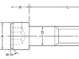 H Size Drawing Dimensions socket Head Cap Screw Dimensions atlanta Rod and Manufacturing