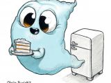 Halloween Drawing Ideas Easy Midnight Snack by Chris Ryniak Cute Monsters Drawings