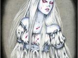 Halloween Girl Drawing Banshee Kunst Kunst Aus Der Gruftiszene Und Halloween Zombie