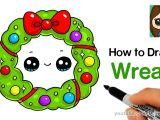 Holiday Drawing Ideas How to Draw A Christmas Holiday Wreath Easy Youtube