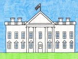 House Drawing Easy 3d Draw the White House A Art Projects for Kids