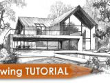 House Drawing Easy 3d Drawing Tutorial How to Draw A Modern House Youtube