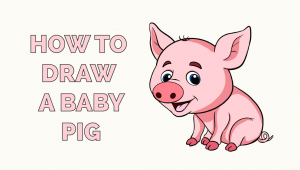 How to Draw A Easy Baby How to Draw A Fire Baby Animal Drawings Baby Pigs Easy