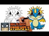 How to Draw A Easy Cute Dragon How to Draw Stormfly How to Train Your Dragon Youtube