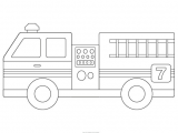 How to Draw A Fire Truck Easy Fire Engine Template Fire Trucks Fire Truck Drawing Fire