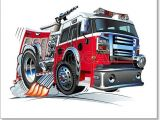 How to Draw A Fire Truck Easy Free Art Print Of Cartoon Fire Truck Fire Trucks Truck