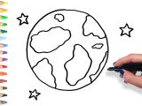 How to Draw A Full Moon Step by Step Easy Learn How to Draw Earth and Stars Teach Drawing for Kids and toddlers Coloring Page Video