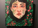 How to Draw A Girl Mouth In the Leaves D Art Drawing Girl Nature Draw