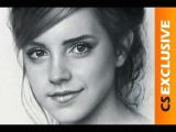 How to Draw A Girl Mouth Speed Drawing Portrait Emma Watson Dry Brush