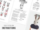 How to Draw A Hare Easy Step by Step Amazon Com Hare Mask Rabbit Mask Animal Mask Diy