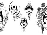 How to Draw A Husky Easy Husky Tattoo Ideas Dog Tattoos Husky Tattoo Animal Tattoos