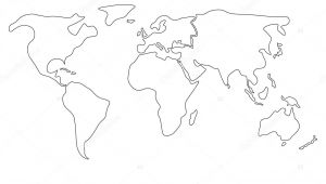 How to Draw A Map Easy Easy Draw Map Of the World Map Easy to Draw Easy World Maps