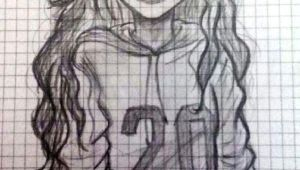 How to Draw A Picture Of A Girl Cool and Easy Things to Draw when Bored Drawings Schone