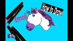 How to Draw A Unicorn Emoji Step by Step Easy How to Draw A Unicorn Emoji Step by Step Easy Youtube