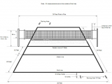 How to Draw A Volleyball Easy Volleyball Court Dimensions Volleyball Court Dimensions