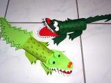 How to Draw An Easy Crocodile Bastelsachen Tiere Krokodile Aus Papier Tiere Basteln