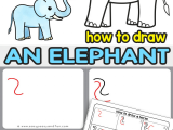 How to Draw An Elephant Step by Step Easy Drawing Videos for Kids to Master Art with Easy and Step by