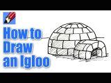 How to Draw An Igloo Easy How to Draw An Igloo Real Easy Youtube