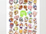 How to Draw Animal Crossing Villager Chibi Npc Characters From Animal Crossing New Leaf Animal