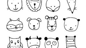 How to Draw Animal Faces Set Of Animal Faces Sketch for Your Design Stock Vektor Art