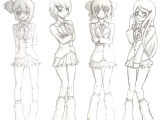 How to Draw Anime School Girl School Girl Sketches Girl Sketch Sketches Anime School Girl