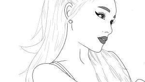 How to Draw Ariana Grande Easy Ariana Grande Outline Umrisszeichnungen Skizzierung Und