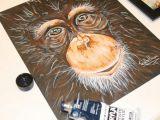How to Draw Easy Paintings Schimpanse Portrat Acryl Schimpanse Malerei Affen Sie Malen Affe Kunst Affe Malerei Acryl Malerei Tierische Kunst Affen Kunst