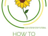 How to Draw Easy Sunflower How to Draw A Sunflower Really Easy Drawing Tutorial