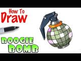 How to Draw fortnite Easy How too Draw fortnite Boogie Bomb 3d Drawing Tutorial