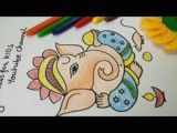 How to Draw Ganesha Easy Step by Step 142 Best Drawing Class for Kids with Tutorials Images