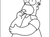 How to Draw Homer Simpson Head Easy Free Printable Simpsons Coloring Pages for Kids Simpsons
