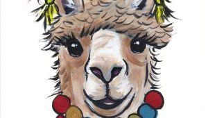 How to Draw Llama Easy Alpaca Art Alpaca Decor Alpaca with Tassels Art Alpaca