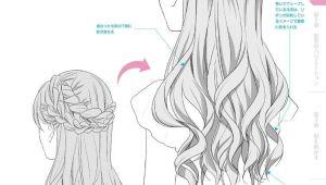 How to Draw Long Anime Hair Hair Back Anime Manga Hair How to Draw Hair How to Draw