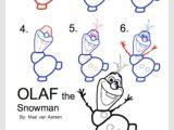 How to Draw Olaf Easy Pin Auf Zeichnungen