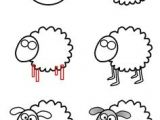 How to Draw Sheep Easy 13 Best Sheep Drawing Images Sheep Sheep Drawing Sheep Art