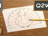 How to Draw Turkey Easy How to Draw A Turkey Turkey Drawing Drawings