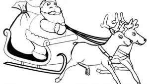 How to Make Easy Santa Claus Drawing How to Draw Santa Clause Reindeers and Flying Sleigh for