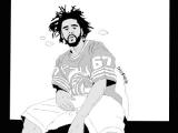 J Cole Cartoon Drawing J Cole Drawing Tumblr