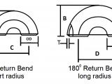 J Size Drawing Dimensions Pipe Bends Return Dimensions In Mm Long Short Radius